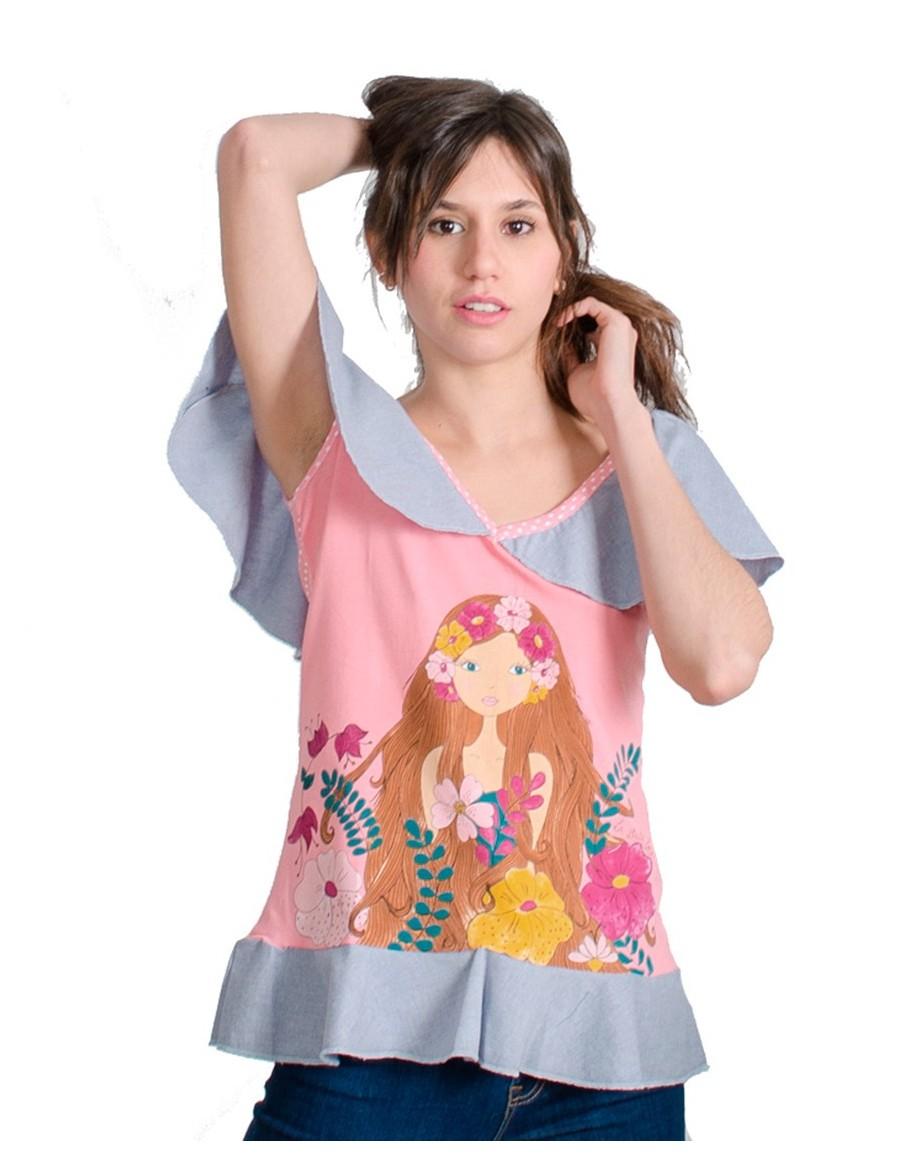 Camiseta La Flor de la Canela rosa