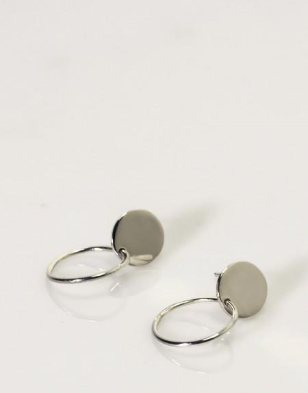 Pendientes círculo con aro producto