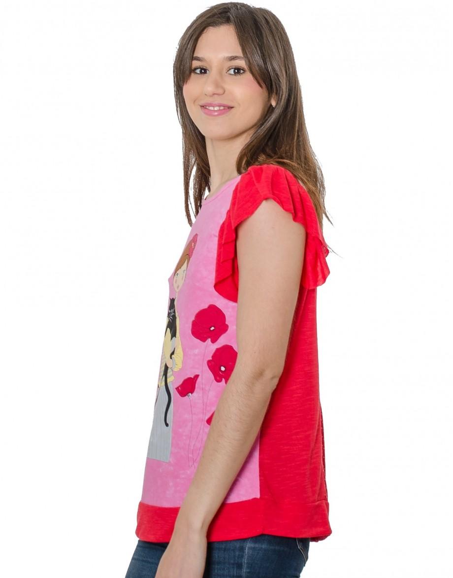 Camiseta La Flor Efímera detalle tonos