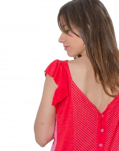 Camiseta La Flor Efímera escote de la espalda