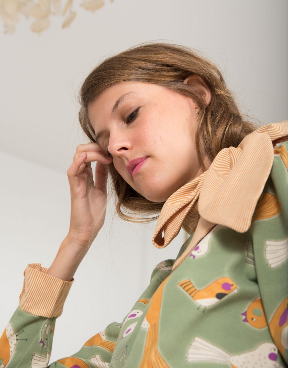 Camiseta Lady Bird con lazo puño y lazo