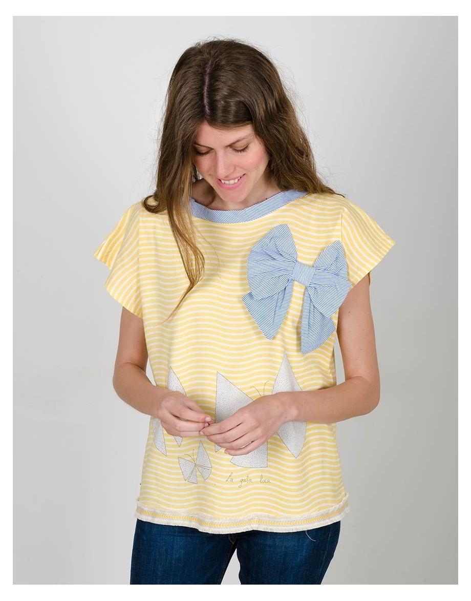 Camiseta Caleidoscopio chicas modelo