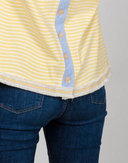 Camiseta Caleidoscopio chicas detalle puntilla
