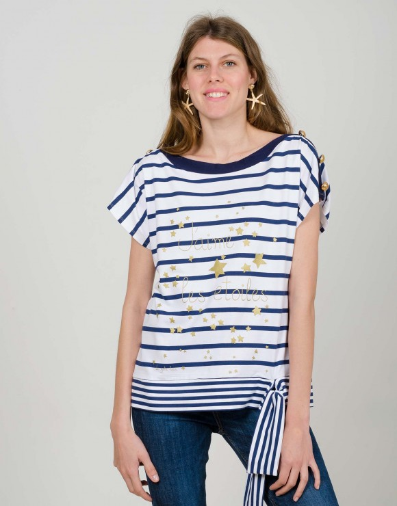 Camiseta marinera   J´Aime les Étoiles