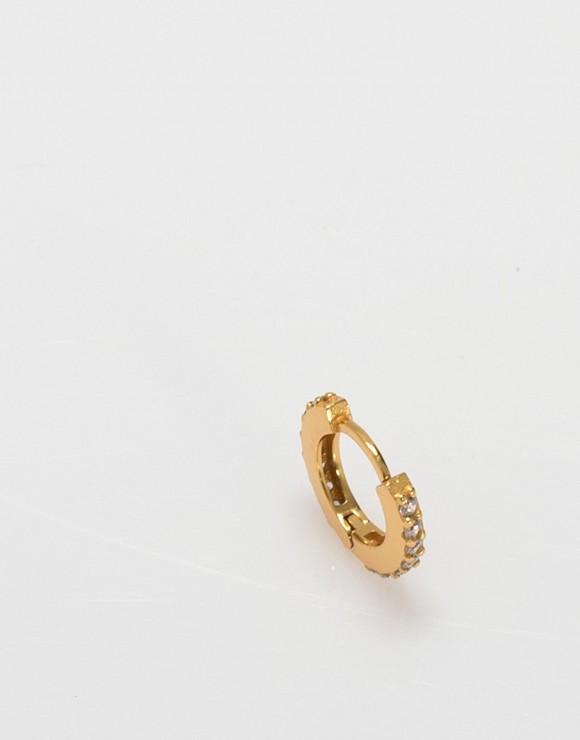 Pendientes piercing aro sencillo mini circonitas