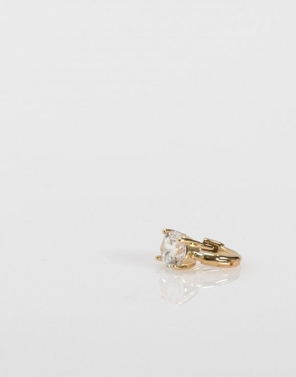 Pendientes piercing Mini brillante oro lateral
