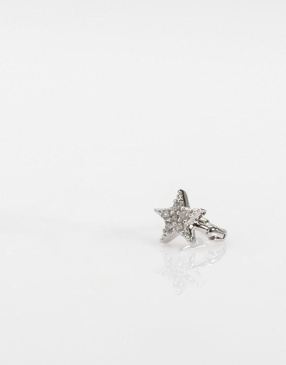 Pendiente piercing Mini estrella plata