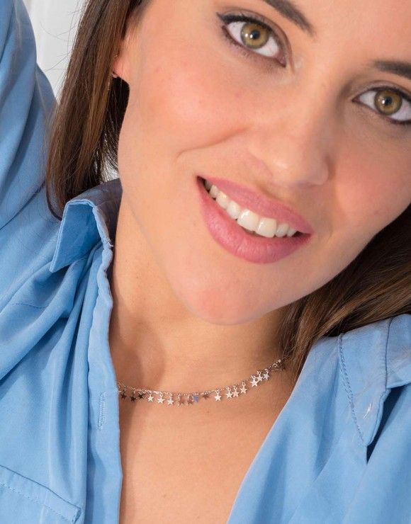 Collar estrellitas mini detalle