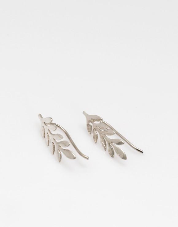 Pendientes hojas plata y oro producto