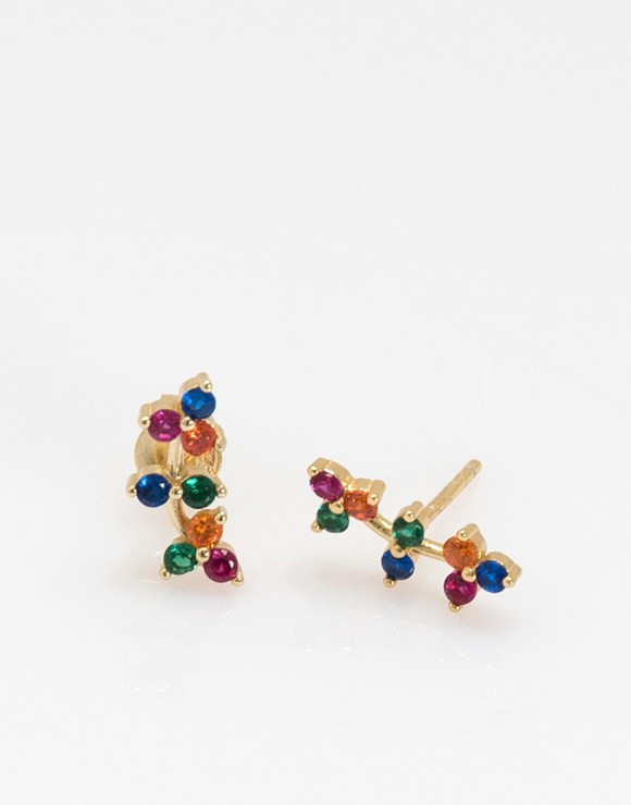 Pendientes trepadores mini arcoiris producto