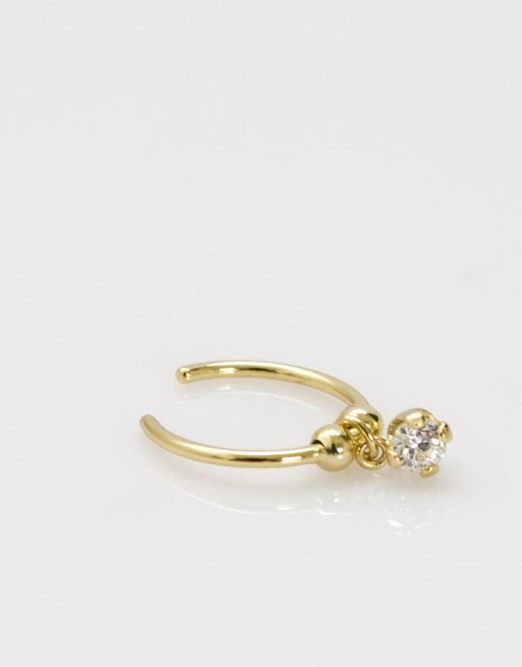 Pendiente earcuff aro circonita oro