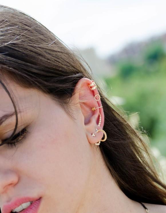Pendiente earcuff doble aro