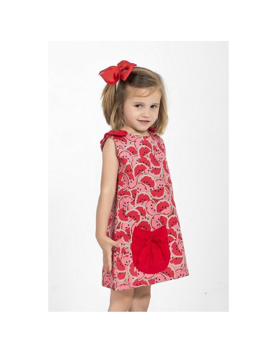 vestido-ninas-bonito-estampado-sandias-rojas-el-sur
