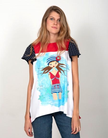 Camiseta La Amapola Marina