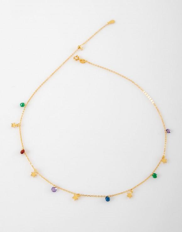 Collar Estrellas Arcoiris oro