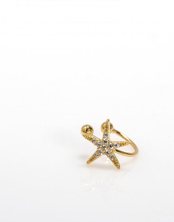 Pendiente Earcuff estrella de mar oro