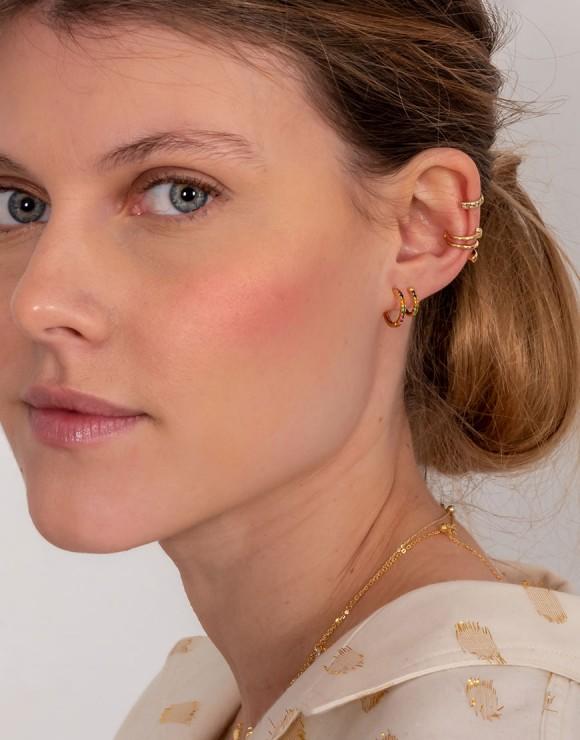 Pendiente doble earcuff  piercing