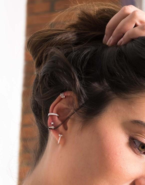 Pendiente earcuff 4 aros detalle