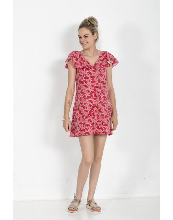 vestido-original-bonito-estampado-sandias-rojas-el-sur