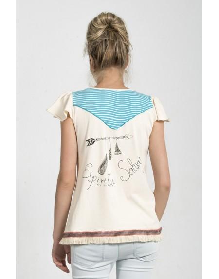 camiseta-original-dibujo-chica-india-espiritu-salvaje