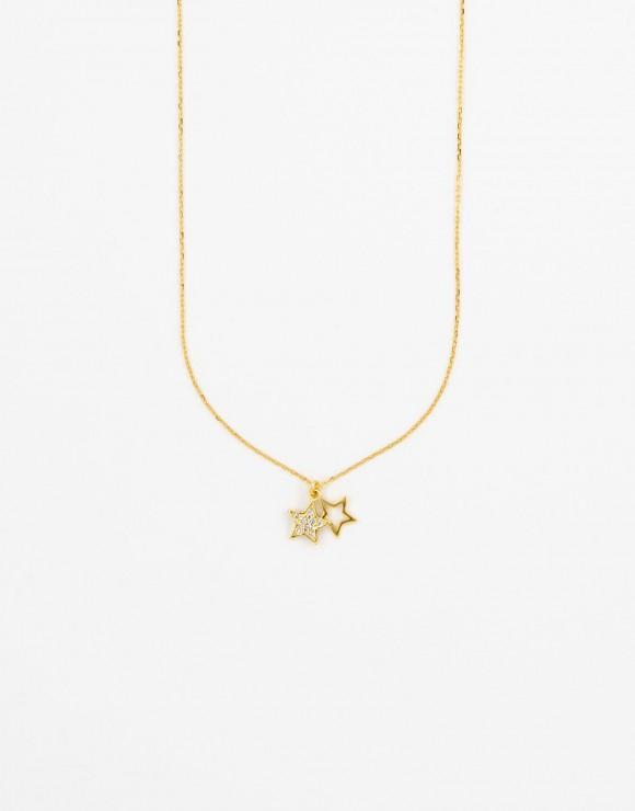 Collar cadenita estrellas gemelas