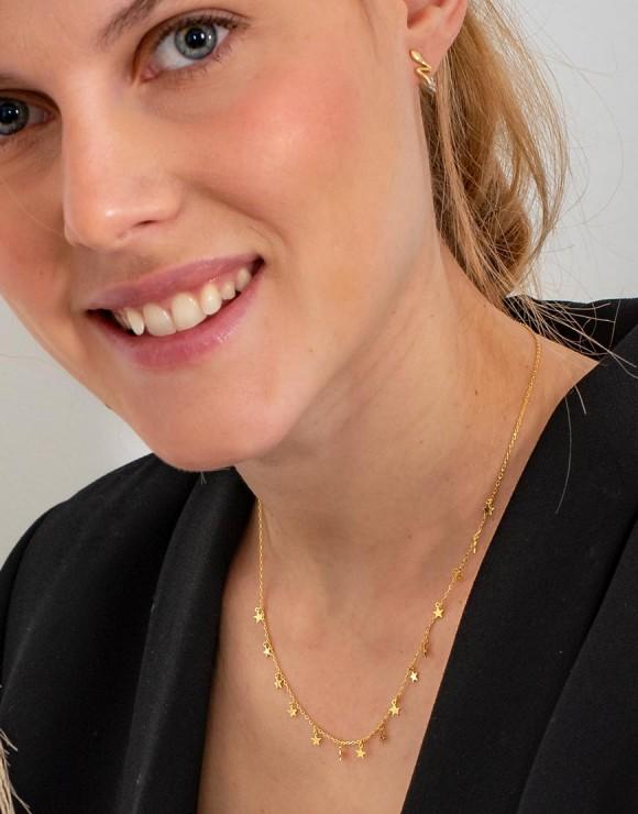 Collar Estrellitas delicate oro modelo