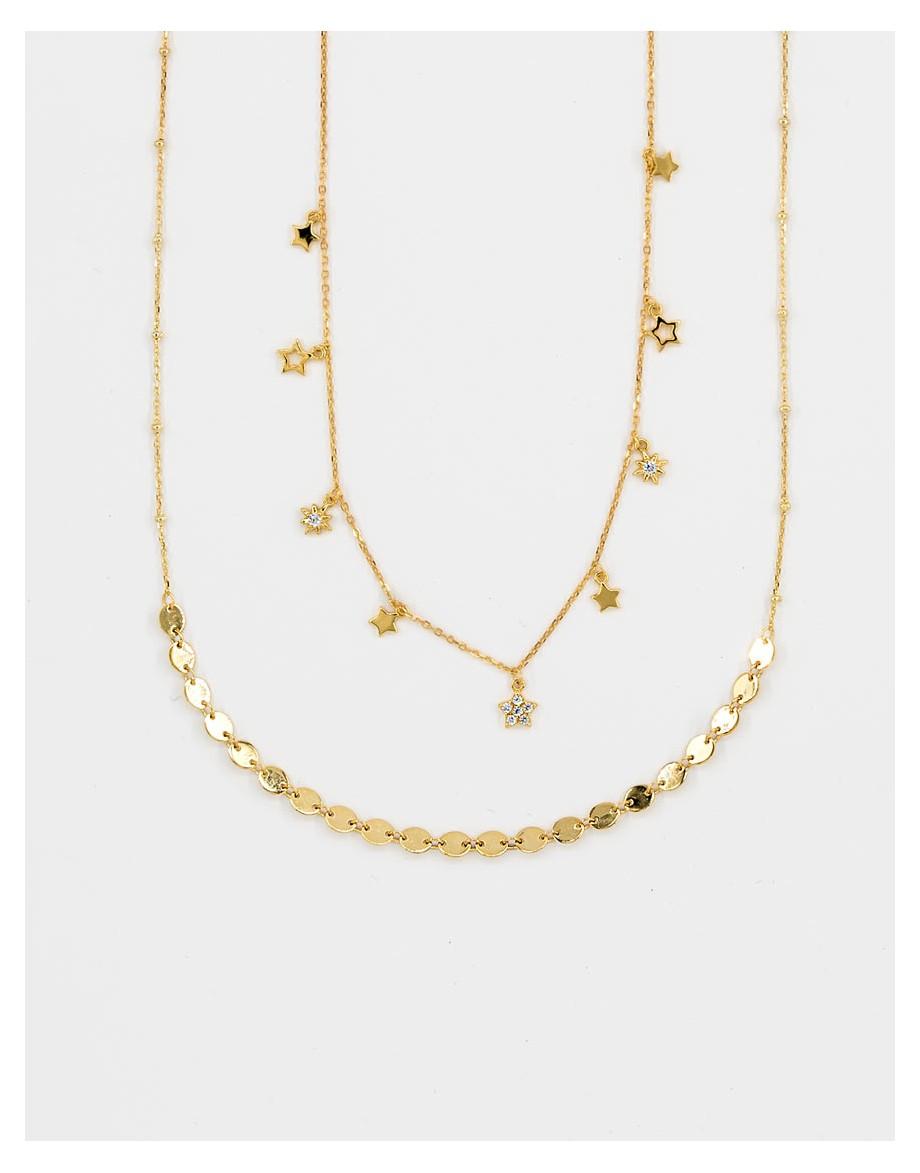 Set de collares Divina star oro