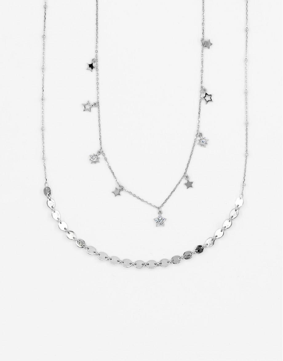 Set de collares Divina star plata