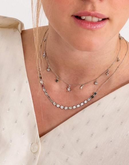 Set de collares Divina star modelo plata