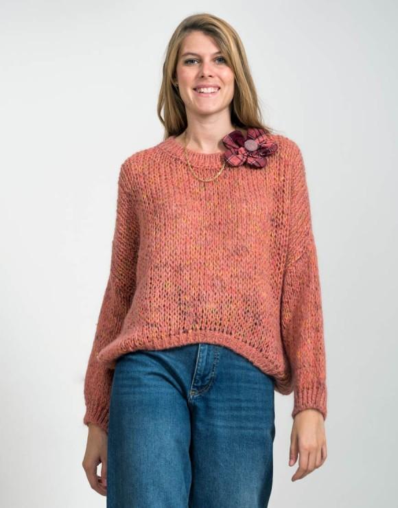 Suéter Tartán flor