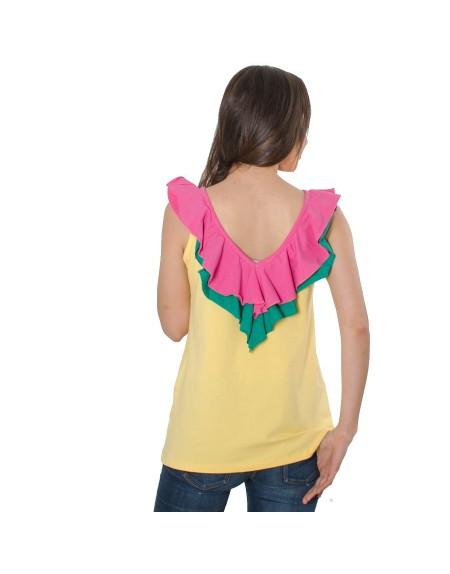 Camiseta La bella cubana escote espalda