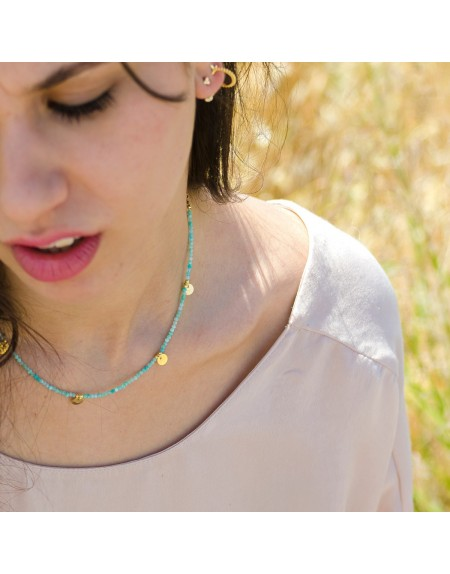 Collar mineral monedas
