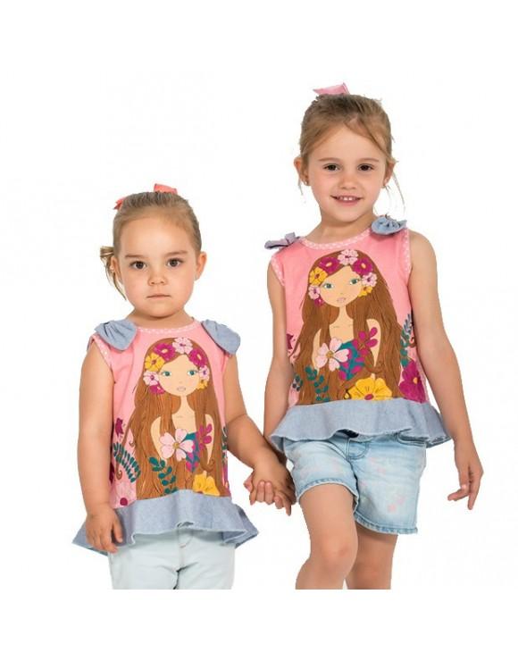 camiseta-ninas-diseno-floral-la-flor-de-la-canela