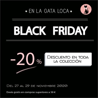 No te pierdas nuestro ¡¡ Triple 💥#BlackFriday 💥!!   Visita nuestra web lagatalocaonline.com y tendrás un 🎊 20% de Descuento en tus compras 👗💍👑 durante todo el fin de semana. Del Viernes 27 al Domingo 29 de Noviembre incluido.  Además, con tu Compra Superior a 50€ ¡¡💥Envíos Gratis en España💥!! * . . . . . . * Excepto Islas Baleares y Canarias  #descuentosmoda #ofertasmoda #modamujer #ropamujer #joyasmujer #joyasdeplata #pendientesplata #pendientespiercing #trepadores #pendientestrepadores #earjacket #pendientesmini #collaresdeplata #pendientesoriginales #pulserasplata