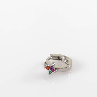 Arito mini piercing con un toque de color. En plata 925 o en plata con baño de oro 18k. TU ELIGES #lagataloca#lagatalocaonline #bohemianphilosophy #aros