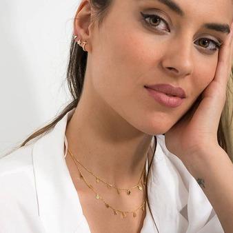 Pequeñas joyas realizadas en plata 925 con baño de oro de 18k. Descubre todos los modelos en la web.  www.lagatalocaonline.com