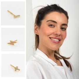 Pendientes Mini , ideales para combinar con tus piercings #lagataloca#lagataloca_lachattedivine #pendientesmi#bohemianphilosophy#ellookdel dia